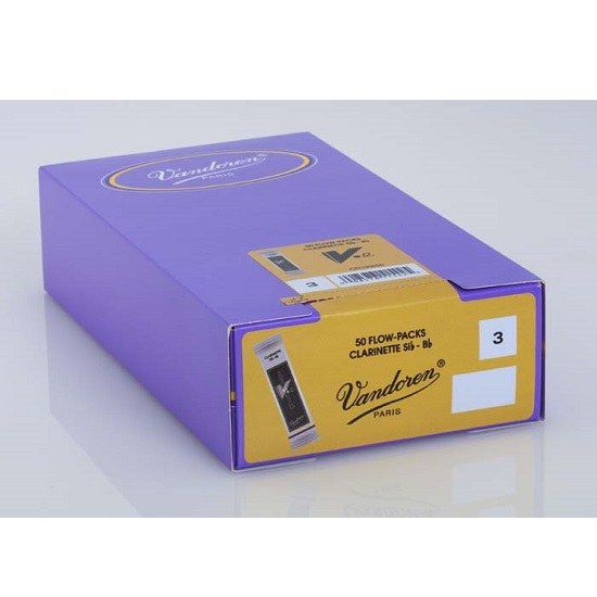 Vandoren V12 Bb Clarinet Reeds - Box of 50