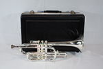 F.E.  Olds Student Cornet, Silver Plated - NA5MS