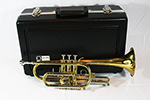 F.E.  Olds Student Cornet with Thumb Saddle, Brass Lacquer Finish - NA5MU
