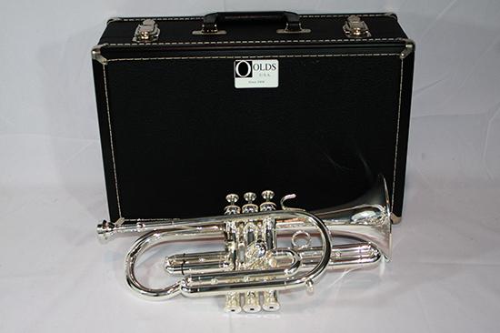 F.E. Olds Semi Pro Cornet, Silver Plated - NP6MST