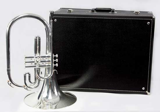F.E. Olds Marching French Horn - Silver