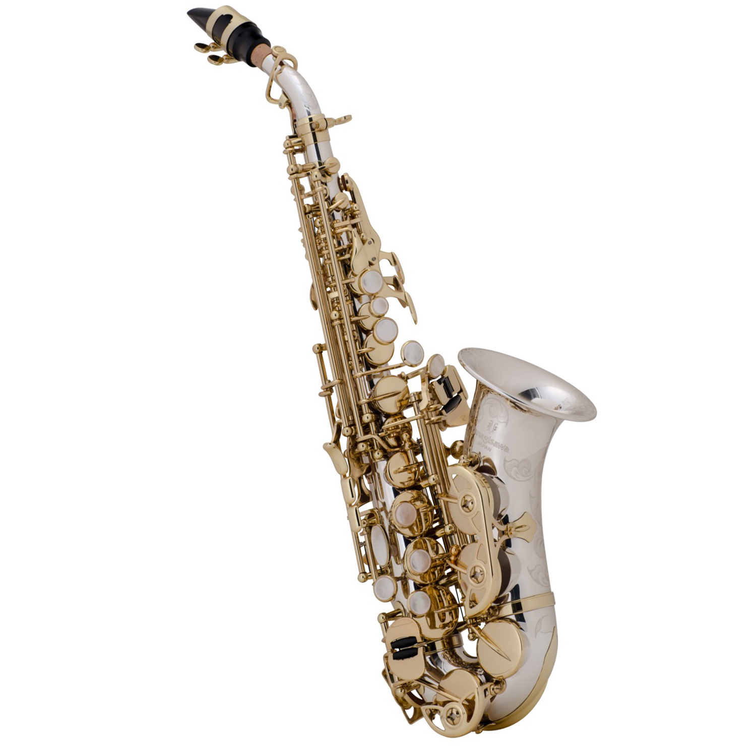 Yanagisawa SC9937 Curved Soprano Saxophone - Sterling Silver Body, Bow, and Bell