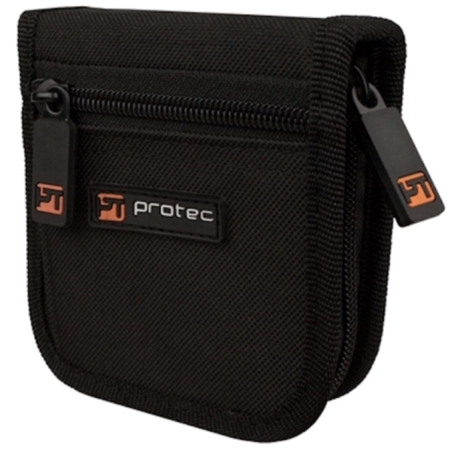Pro Tec Nylon Zippered Trumpet Mouthpiece Pouch - Holds 3 Mouthpieces