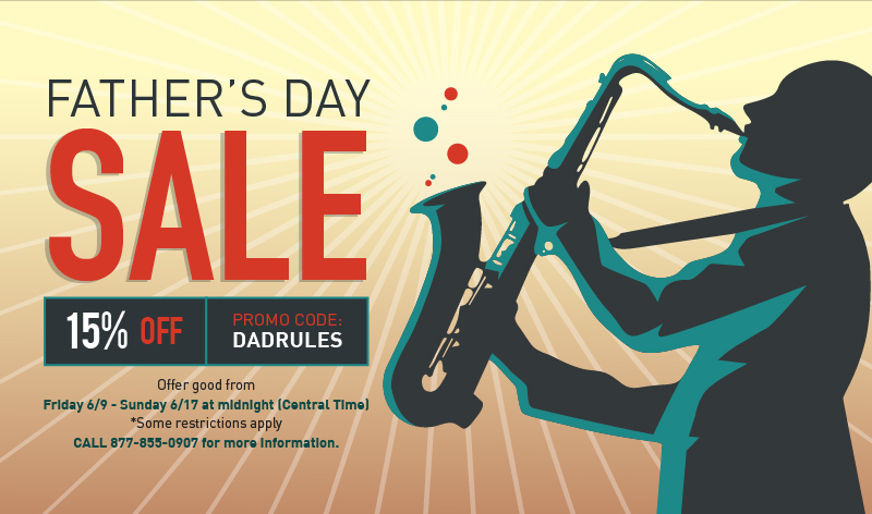 FATHER'S DAY SALE - 15% OFF