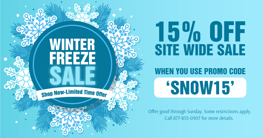 WINTER FREEZE SALE - 15% OFF