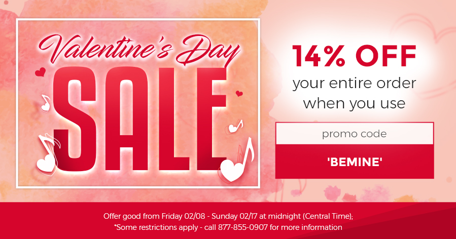 VALENTINES DAY SALE - 14% OFF