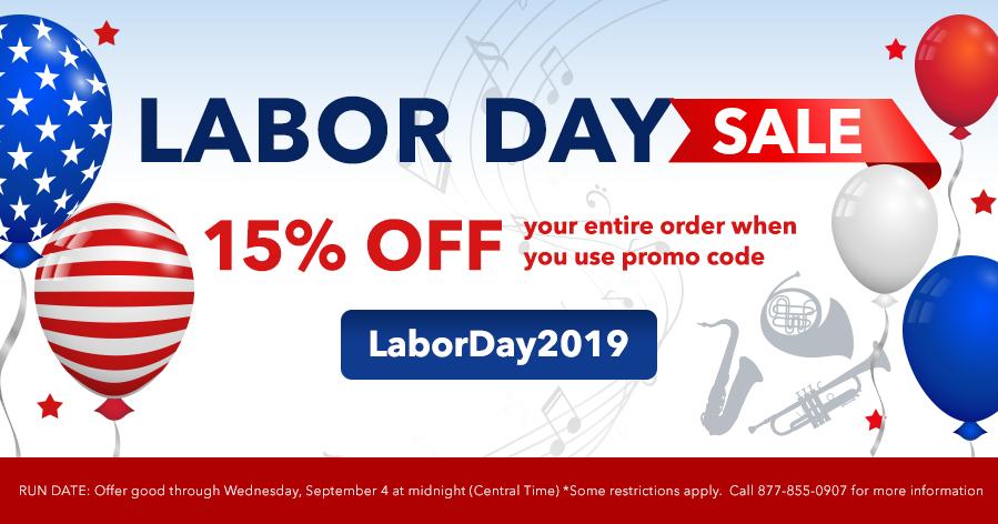 LABOR DAY SALE - 15% OFF