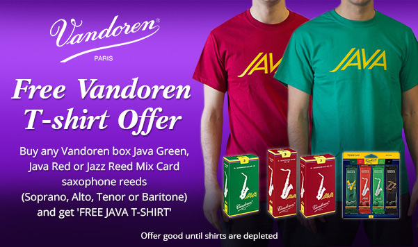 Buy Vandoren Java Reeds And Get Free Shirt Pro Winds