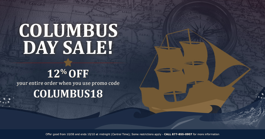 COLUMBUS DAY SALE - 12% OFF