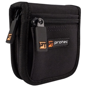 Pro Tec Nylon Zippered Trumpet Mouthpiece Pouch - Holds 2 Mouthpieces