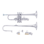 "Bach Stradivarius ""Artisan Collection"" Eb/D Trumpet - Silver Plating"
