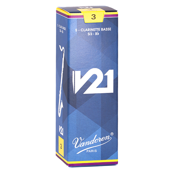 Vandoren V21 Bass Clarinet Reeds - Box of 5