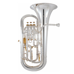 "Besson Prestige 12"" Bell Professional Euphonium - Silver Plating"