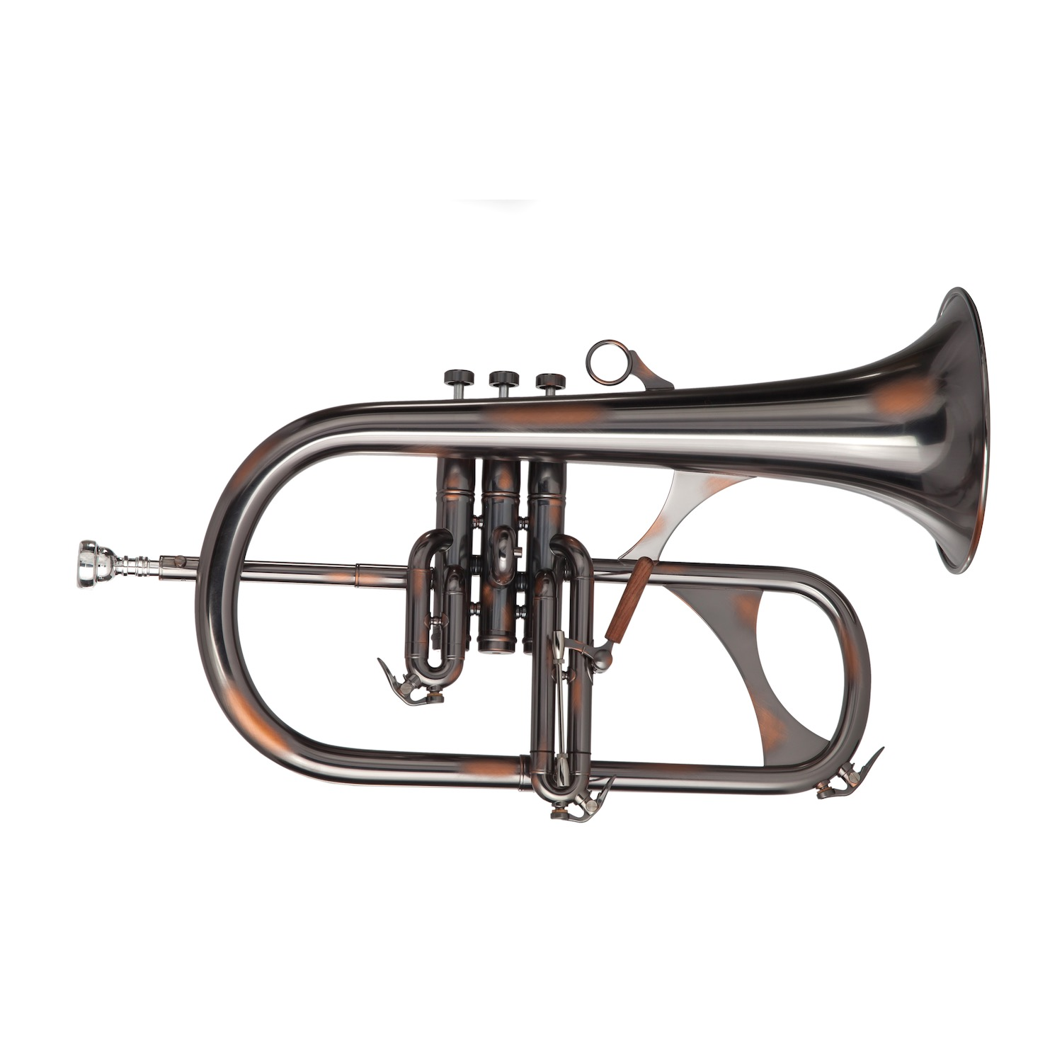 Phaeton Professional Flugelhorn - Black/Copper Antique Finish
