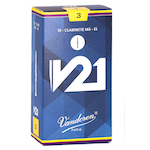 Vandoren V21 Reeds for Eb Clarinet - Box of 10 - NEW FOR 2017!