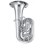 Jupiter XO Professional CC Tuba - Silver Plating - INSTANT REBATE SHOWN IN CART (PLUS GIFT CARD FOR SAME VALUE INCLUDED)