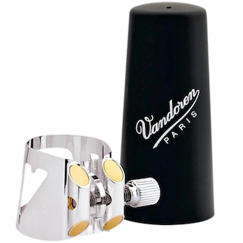 Vandoren Optimum Ligature and Plastic Cap for German Clarinet