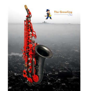 The Growling Sax (by Victory Musical Instruments) Red Lava Special Edition Curved Soprano Saxophone