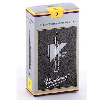 Vandoren V12 Soprano Sax Reeds (10 per box)