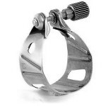 BG Metal Jazz Alto/Tenor Saxophone Ligature - Silver