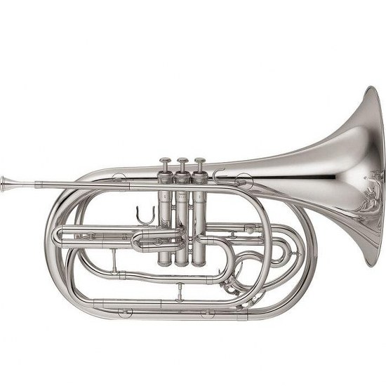 Yamaha Marching French Horn - Silver Plating