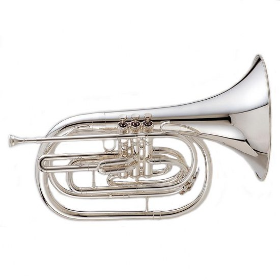 "King ""Ultimate"" Marching French Horn - Silver-Plated"