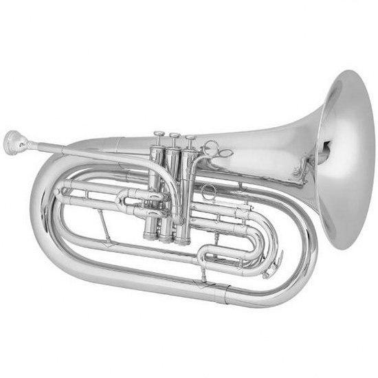 """King """"Ultimate"""" Marching Baritone - Small Shank / Silver-Plated"""