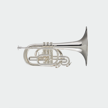 Blessing Marching Mellophone - Silver Plating