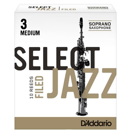 D'Addario (Rico) Select Jazz Soprano Saxophone Reeds - Filed