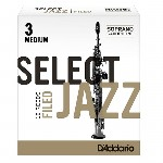 D'Addario (Rico) Select Jazz Soprano Saxophone Reeds - Filed