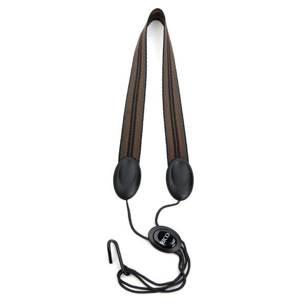 Rico Fabric Tenor/Baritone Sax Strap (Jazz Stripe 2) with Metal Hook