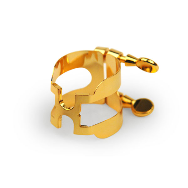 Rico H-Ligature and Cap for Baritone Saxophone - Gold Plated