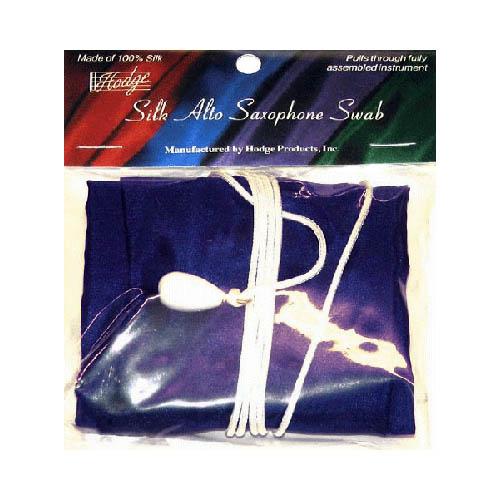 Hodge Alto Saxophone Silk Swab - Multiple Colors