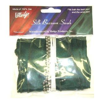 Hodge Bassoon Bocal Silk Swab - Multiple Colors