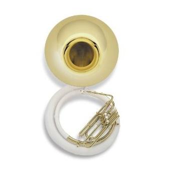 Jupiter Brass Bell/Fiberglass Body Sousaphone - Wheeled Hard Case