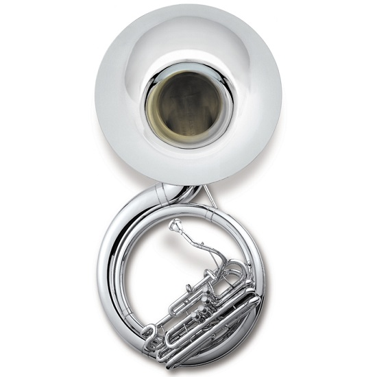 Jupiter Quad Series 4-valve Sousaphone - Silver Finish - Wheeled Case