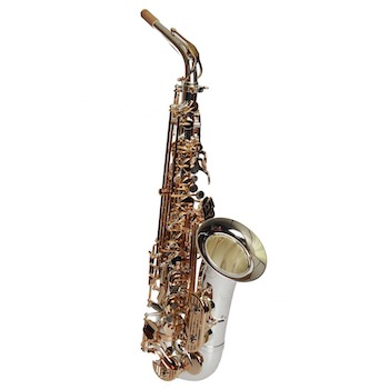 Dakota Alto Saxophone -  Black/Silver Finish