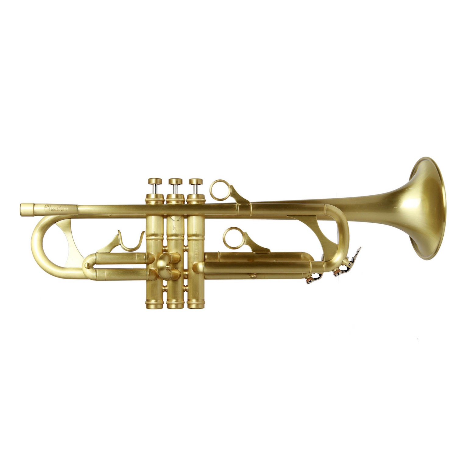 Phaeton Custom Trumpet - Antique Brushed Brass Finish