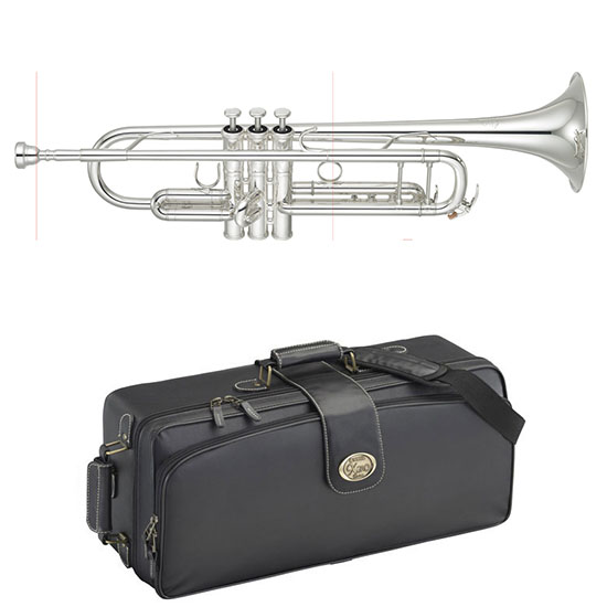 Yamaha Xeno II Professional Bb Trumpet - Large Bore/Gold Brass Bell/Silver - Newly Redesigned!