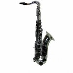 "LA Sax BIG LIP ""X"" Alto Saxophone - Silver w/ Black Keys"