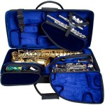 Pro Tec Alto Saxophone/Clarinet/Flute Tri-Pac Case (instruments not included)