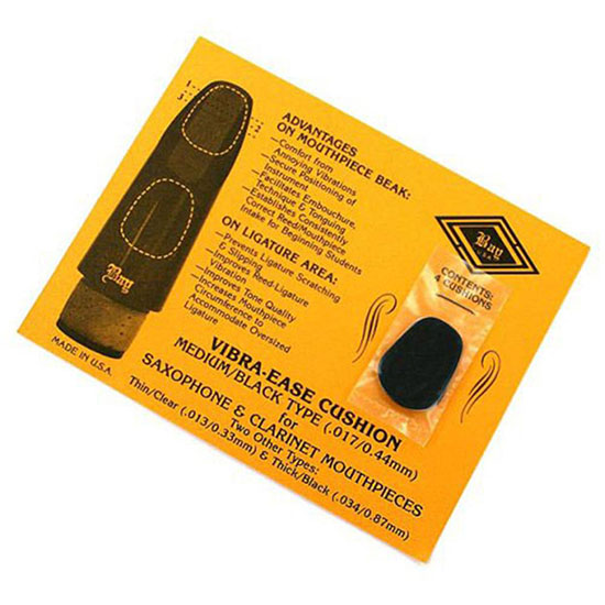 Bay Vibra-Ease Woodwind Mouthpiece Cushions - 4 Pack - Medium Black