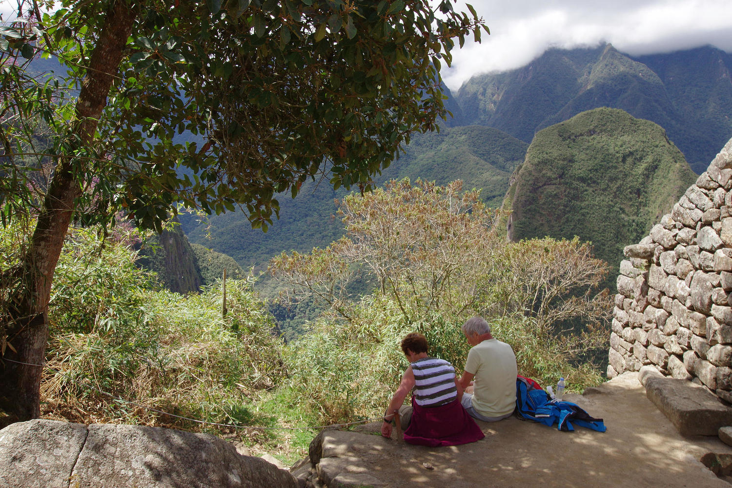 Finding a quiet spot at Machu Picchu
