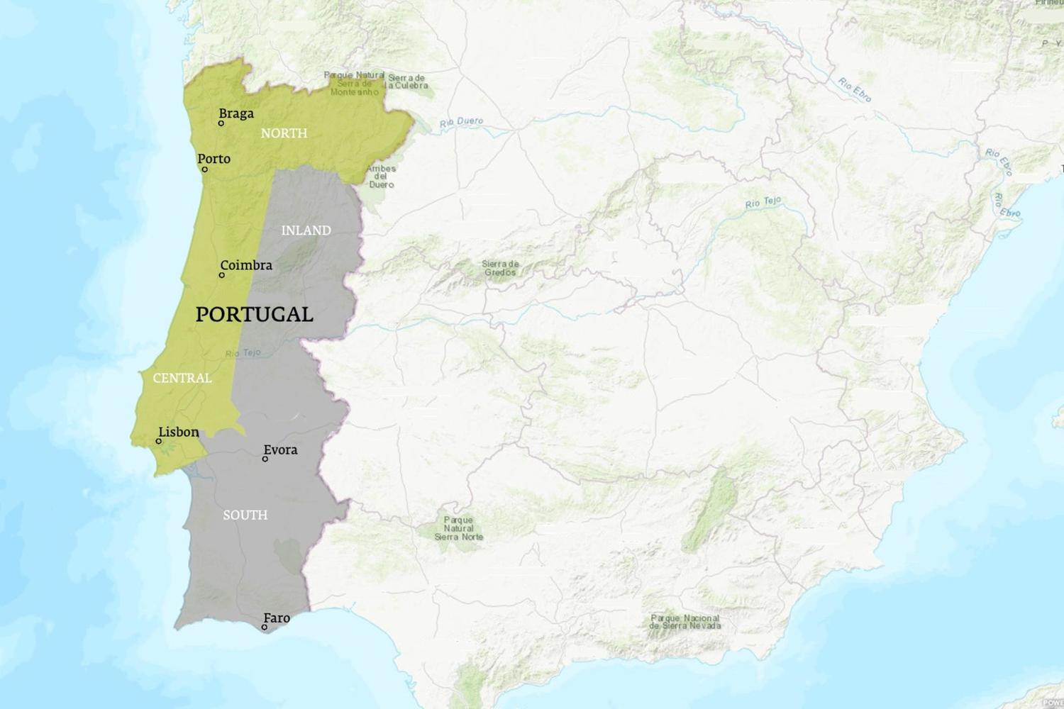Portugal When to Go Map - July