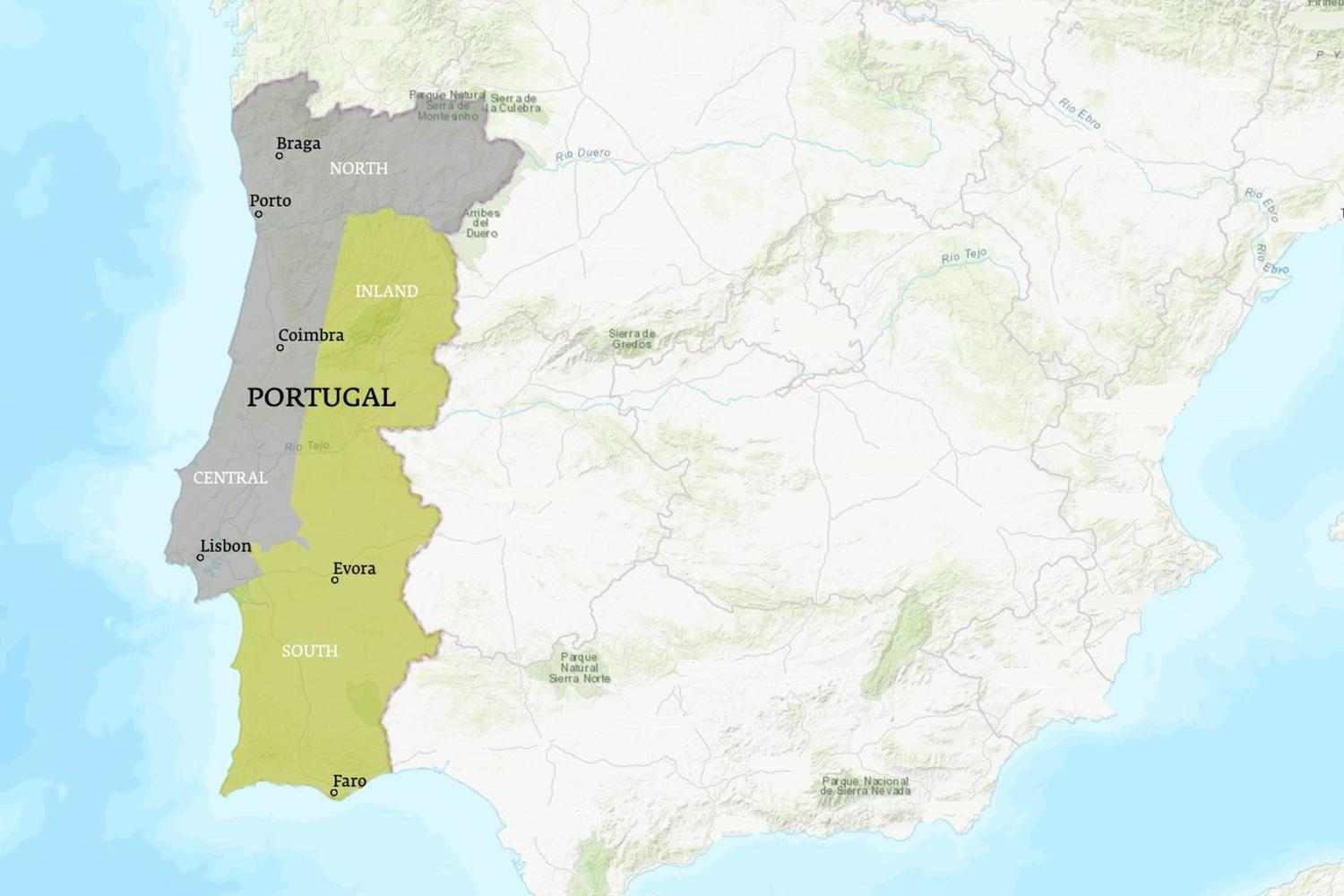Portugal When to Go Map - March