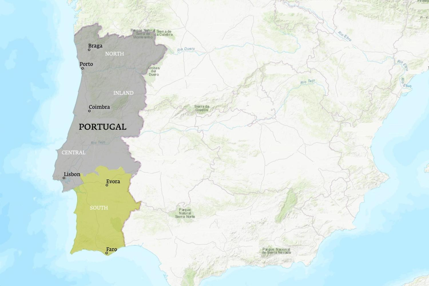 Portugal When to Go Map - November