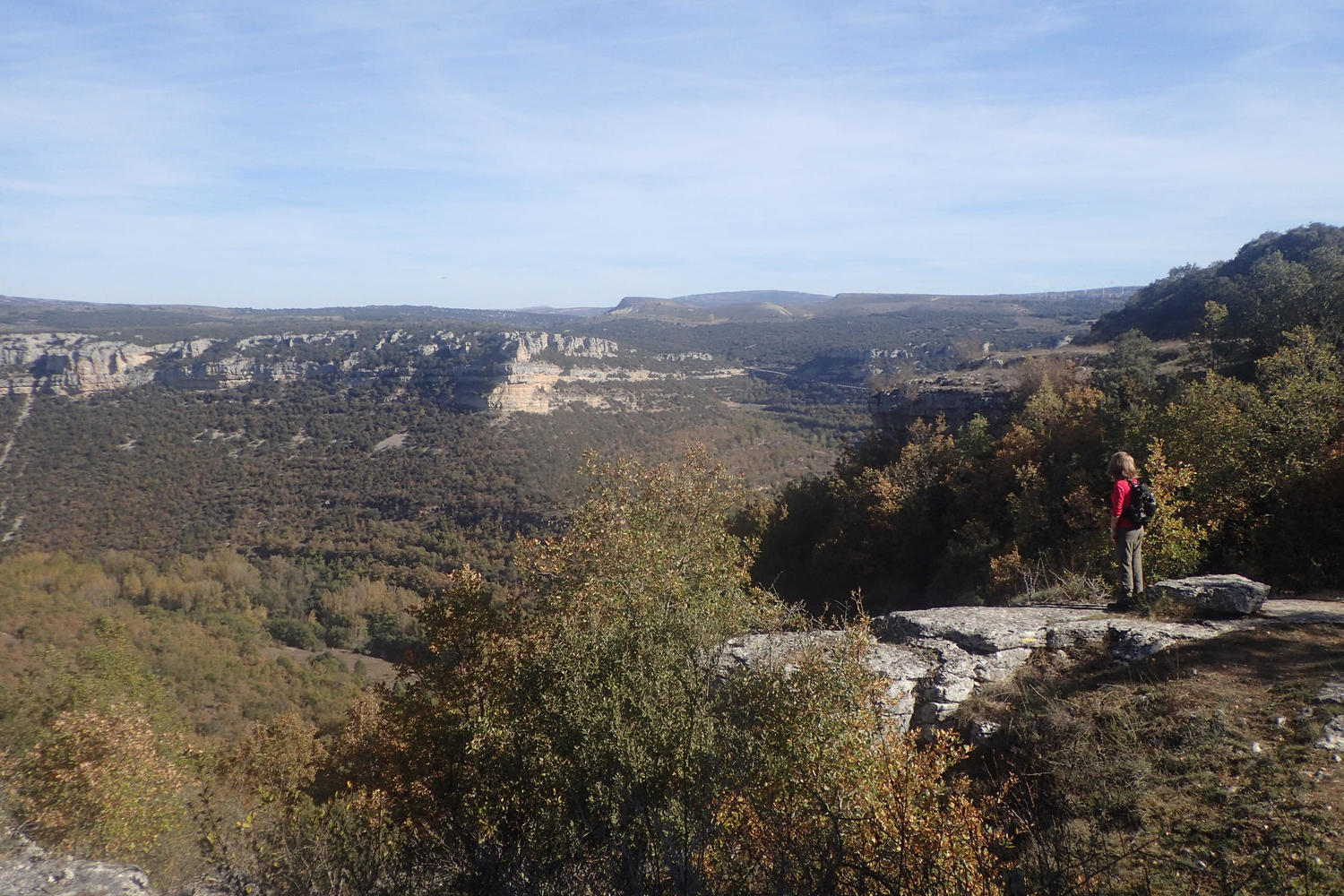 View from the top of the canyon on the circular walk from Orbaneja