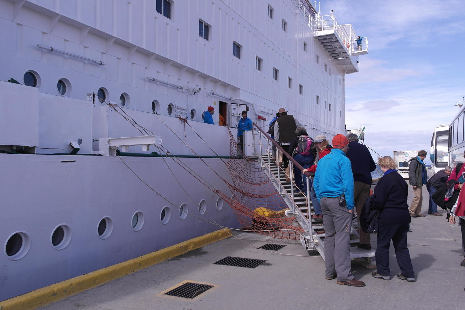 Embarking on the Akademik Ioffe in Ushuaia