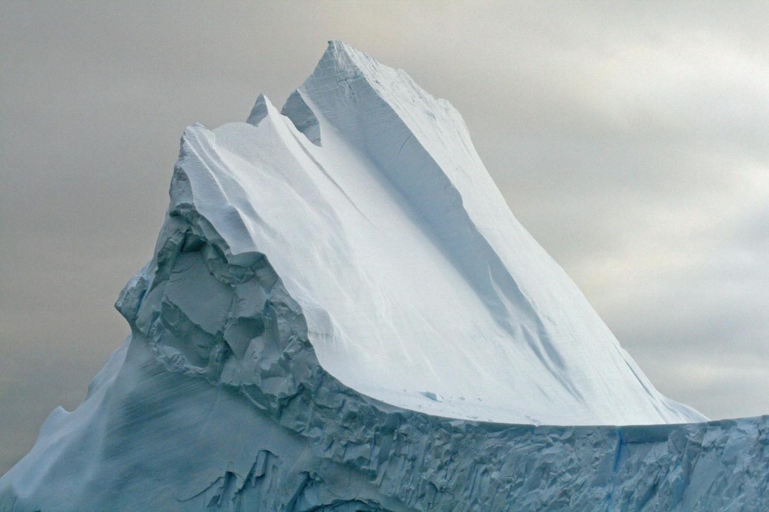 A massive iceberg on the Drake Passage on the way to Antarctica