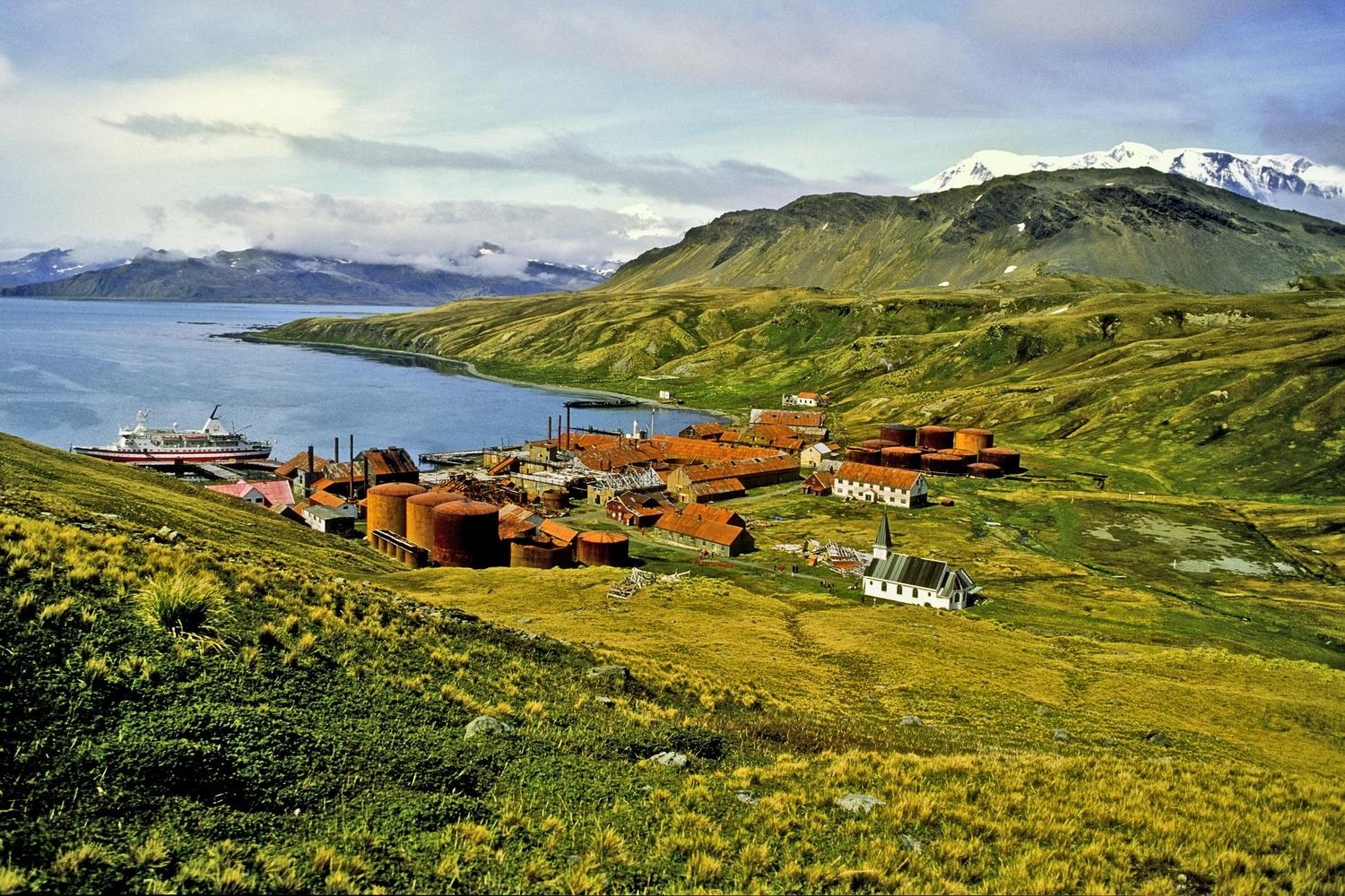 The abandoned whaling station at Grytviken on South Georgia